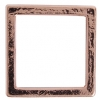 Metal 19mm Square Frame With 2 Hole Copper